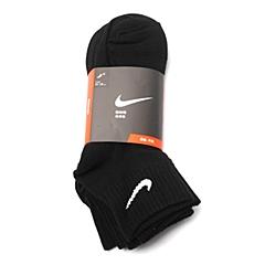 NIKE耐克 2015年新款男子3PPK COTTON NON-CUSHION QTR袜子优惠装SX4787-001