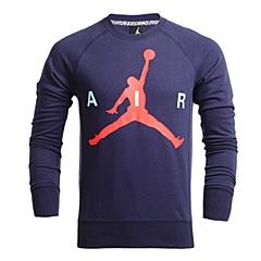 NIKE耐克 新款男子JUMPMAN GRAPHIC BRUSHED卫衣/套头衫696185-410