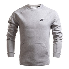NIKE耐克2016年新款男子TECH FLEECE CREW卫衣/套头衫545164-066