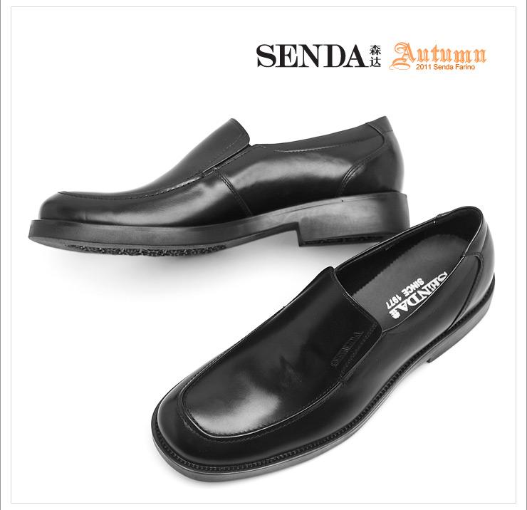 senda/森达秋棕色牛皮男单鞋902-2cm1婚鞋系列