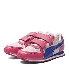 PUMA彪马2016新款女子时尚生活系列Cabana Racer Glitter V Kids儿童跑步鞋35997002