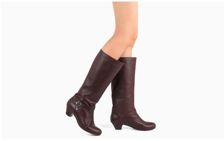 senda/森达冬季新款啡色蜡牛皮女鞋女高靴长靴3oq66dg2
