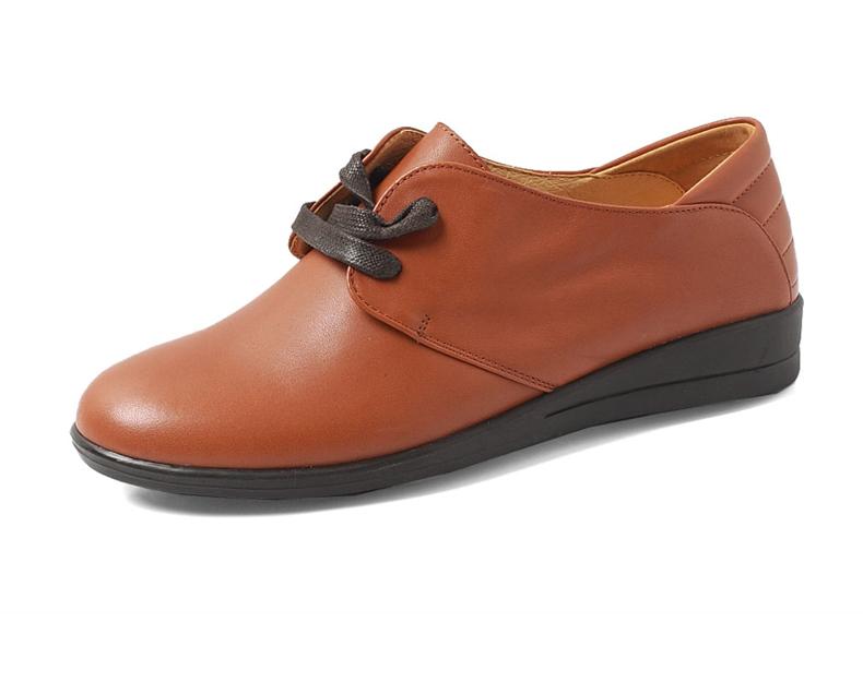 senda/森达秋季棕蜡牛皮女皮鞋3ky41cm3