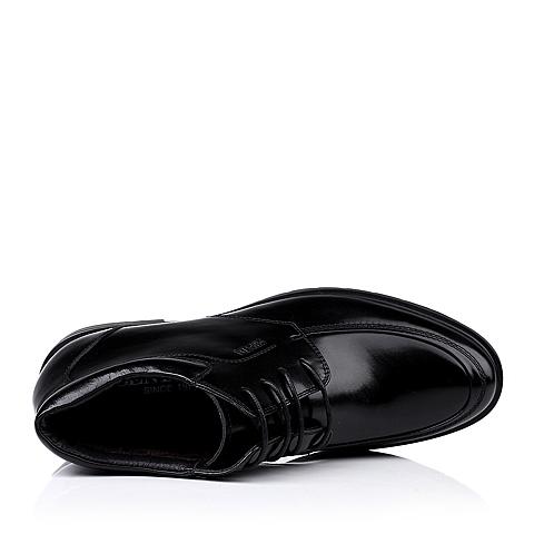senda/森达冬季黑色牛皮男靴f138-dd3绒里商务正装上班男冬靴