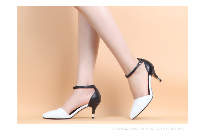 senda/森达2015春季专柜同款白色羊皮女凉鞋i3f22ak5 专柜1