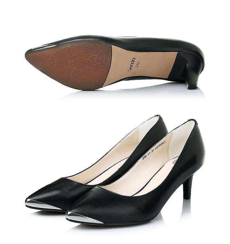 森达单鞋 senda/森达春季专柜同款软羊皮浅口女单鞋a3y03dq5  女鞋图片