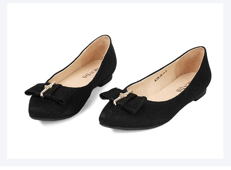 senda/森达秋季专柜同款蕾丝沙丁布浅口女单鞋3li15cq5  女鞋尺码表图片