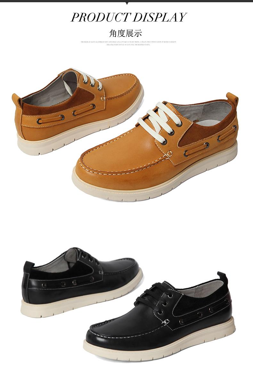 senda/森达2016春专柜同款黑色牛皮男休闲鞋2qy01am6 专柜1