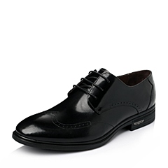 Senda/森达2016春季黑色平面牛皮商务正装男皮鞋1DX22AM6