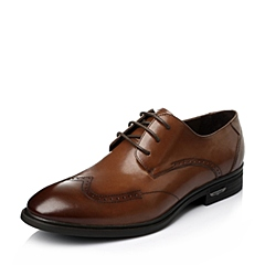 Senda/森达2016春季棕色打蜡牛皮商务正装男皮鞋1DX22AM6