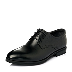Senda/森达2016春季黑色牛皮男皮鞋K5251AM6