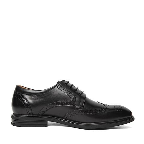 senda/森达2016春季专柜同款黑色牛皮革男皮鞋2ri01