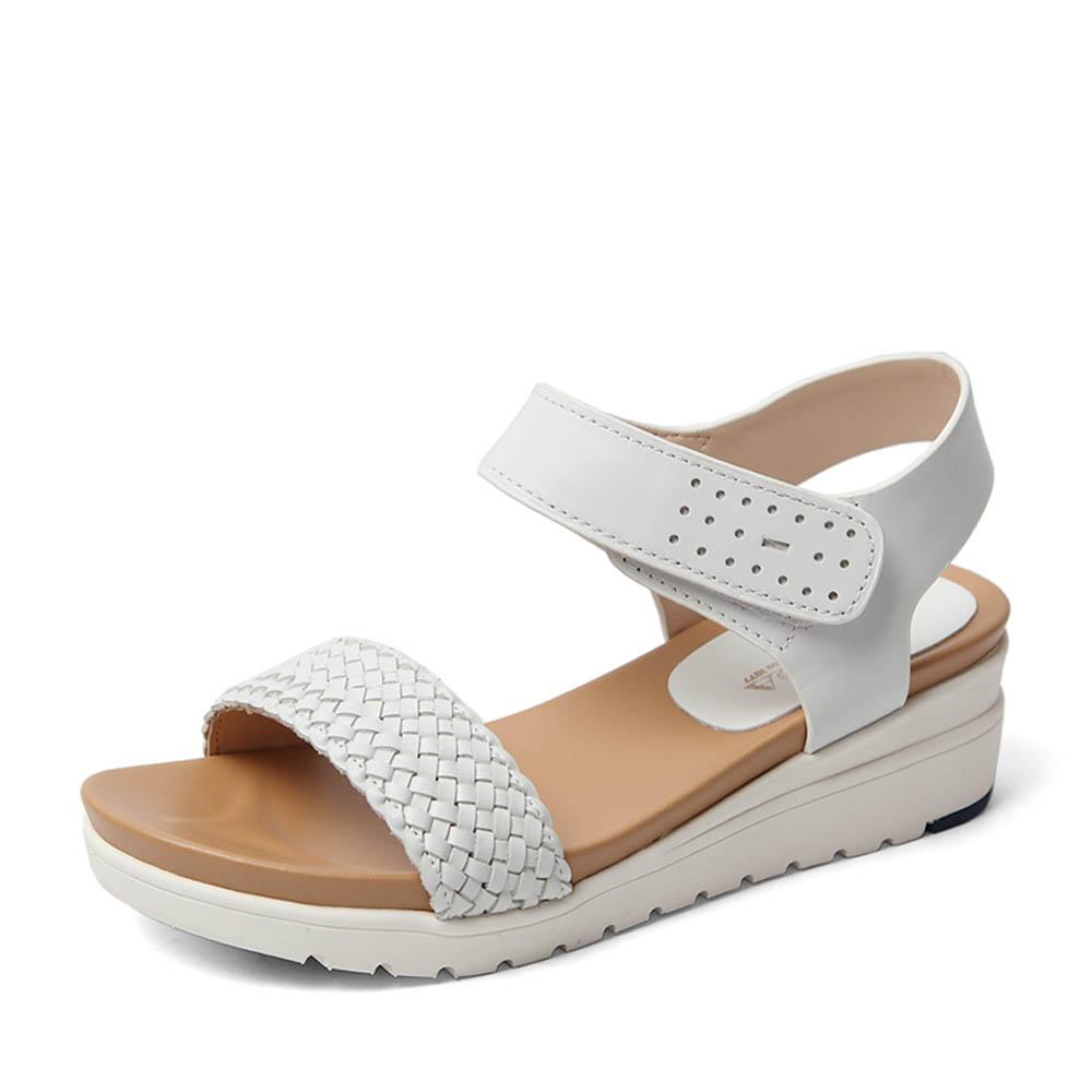 senda/森达2016夏季专柜同款白色牛皮女凉鞋3sf25bl
