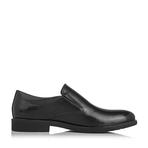 senda/森达2016秋季黑色牛皮男单鞋g6811cm6