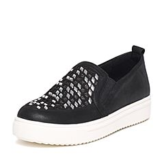 Senda/森达2016秋季专柜同款黑色女休闲鞋K3I20CM6