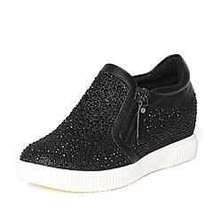 Senda/森达秋季专柜同款黑色女单鞋3QL24CM6