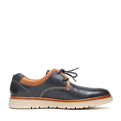 senda/森达2016冬季专柜同款蓝色打蜡牛皮时尚男鞋ca101dm6图片