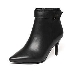 Senda/森达冬季专柜同款气质OL女皮短靴尖头细高跟N3A41DD6