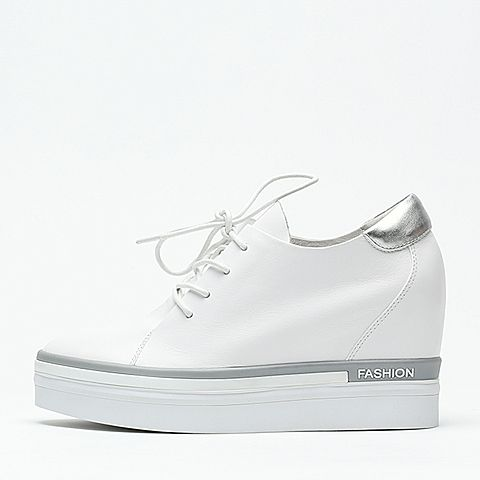 senda/森达2016冬季专柜同款白色牛皮女休闲鞋q2866dm