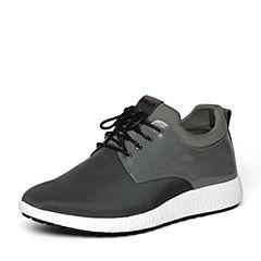 Senda/森达秋季专柜同款灰色织物/超纤男休闲鞋VK101CM6