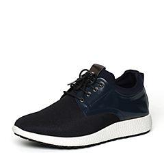 Senda/森达秋季专柜同款蓝色织物/超纤男休闲鞋VK101CM6