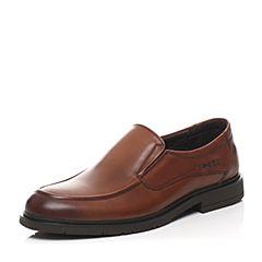 Senda/森达春季专柜同款棕色打蜡牛皮男鞋HS101AM6