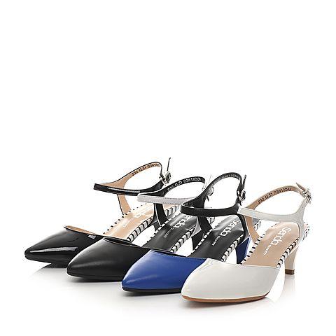 senda/森达2016春季专柜同款白漆牛皮女单凉鞋b3w18a