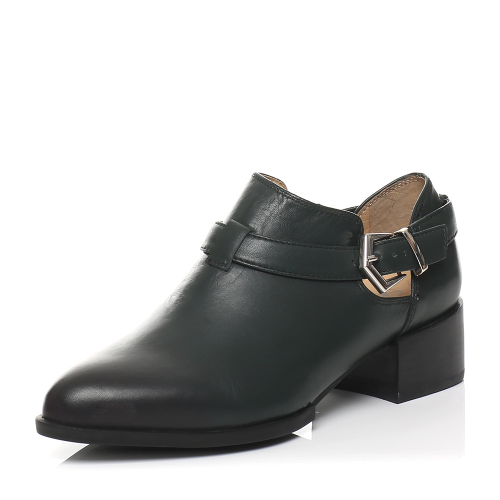 senda/森达春季专柜同款绿蜡牛皮女单鞋a4b06am6