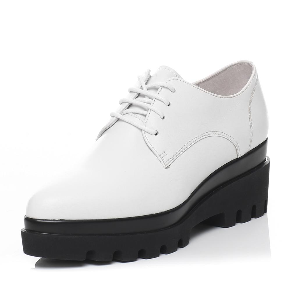senda/森达2016春季专柜同款白软牛皮单鞋a4k01am6