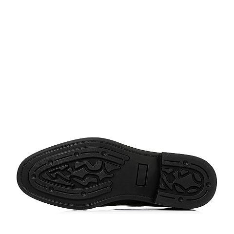 senda/森达2017春季时尚黑色牛皮男鞋80270am7