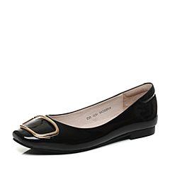 Senda/森达秋季新款专柜同款气质女单鞋方头低跟VAZ03CQ7
