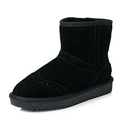Senda/森达2017冬季新款花纹绒里女短靴甜美厚底雪地靴854-1DD7