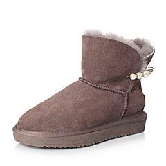 Senda/森达冬季专柜同款潮流简约女雪地靴3GN22DD7