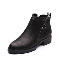 Senda/森达冬季新款专柜同款优雅气质女短靴中粗跟3FB10DD7