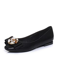 Senda/森达秋季新款专柜同款甜美低跟女单鞋蝴蝶结3WZ22CQ7