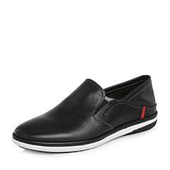 Senda/森达2018春季新款专柜同款真皮低帮休闲男乐福鞋CD1A2AM8