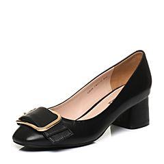 Senda/森达2018春季新款专柜同款潮流真皮舒适女单鞋VJE04AQ8