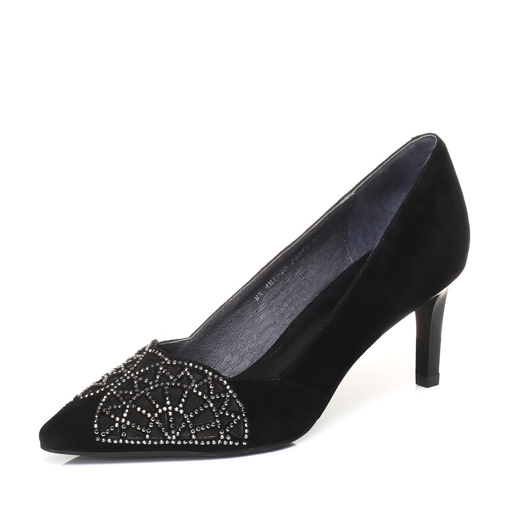 senda/森达2018春季新款专柜同款时尚闪钻女士高跟单鞋4bi02aq8图片