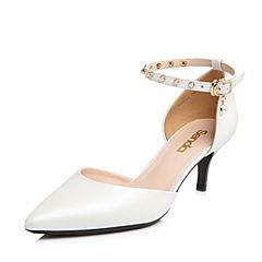 Senda/森达2018夏季新款专柜同款性感一字扣女高跟凉鞋VGUA3BK8