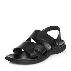 Senda/森达2018夏季新款专柜同款时尚舒适平底男凉鞋1HT15BL8