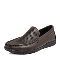 Senda/森达2018夏季新款专柜同款时尚打孔舒适男休闲鞋V2T12BA8