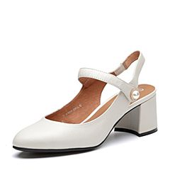 Senda/森达2018夏季新款专柜同款简约休闲女高跟凉鞋4CY01BH8