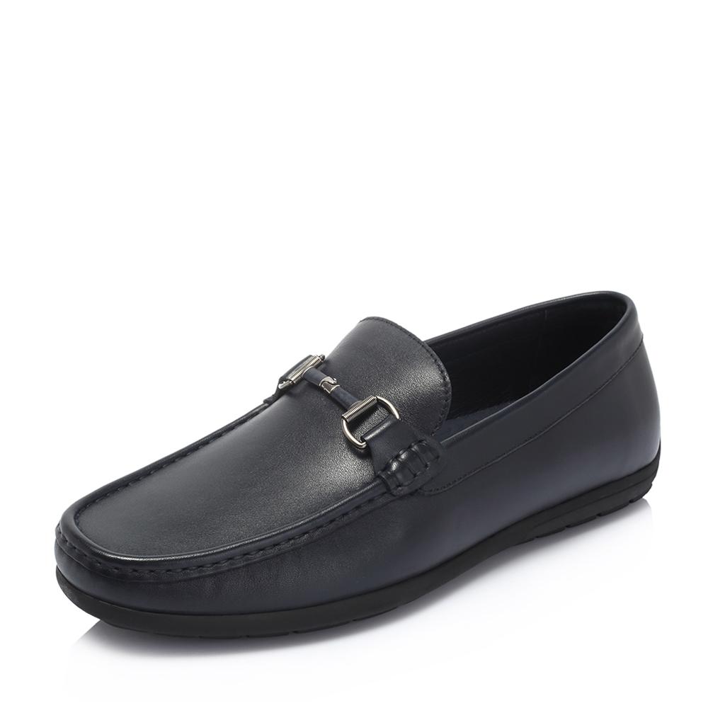 senda/森达2018秋季新款专柜同款韩版舒适休闲男豆豆鞋1ls11cm8