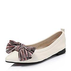 Senda/森达2018秋季新款专柜同款甜美舒适平底女单鞋3HH01CQ8