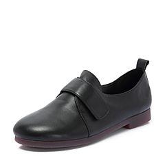 Senda/森达2018秋季新款专柜同款简约舒适女小皮鞋单鞋3HJ02CM8
