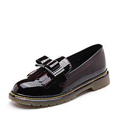 Senda/森达秋季新款专柜同款英伦学院风低跟女单鞋VKU20CM8
