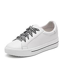 Senda/森达2018秋季新款专柜同款韩版舒适休闲女小白鞋VNNA6CM8