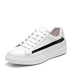 Senda/森达2018秋季新款专柜同款韩版休闲男小白鞋板鞋1LH20CM8