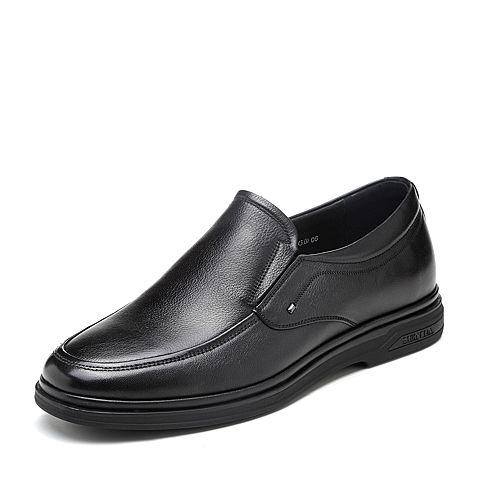 senda/森达2018秋季新款专柜同款摔纹牛皮革男商务皮鞋cd1a8cm8