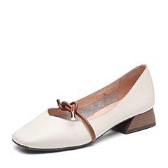 Senda/森达2018秋季新款专柜同款时尚街拍休闲女单鞋3HZ01CQ8